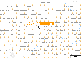 map of Volkmannsreuth