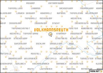 map of Volkmannsreuth