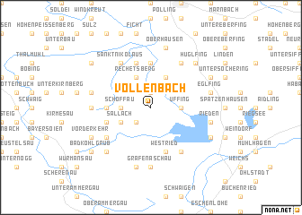 map of Völlenbach