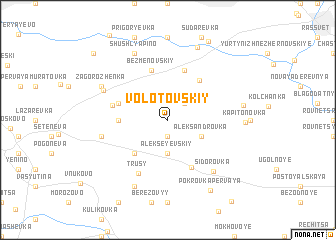 map of Volotovskiy
