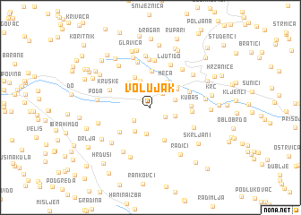 map of Volujak