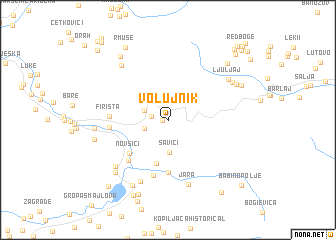 map of Volujnik