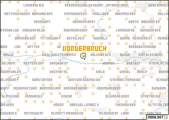map of Vorderbruch