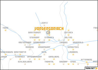 map of Vordergöriach