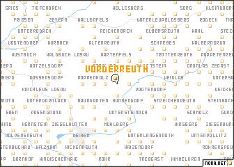 map of Vorderreuth
