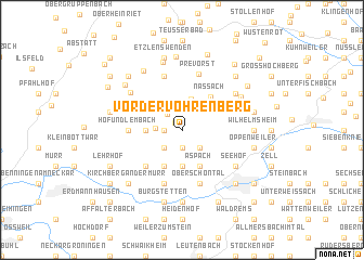 map of Vordervöhrenberg
