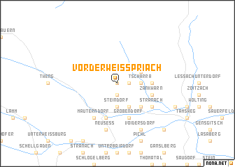 map of Vorderweisspriach