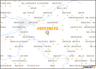 map of Voremberg