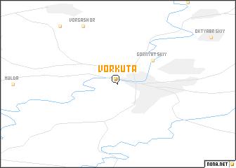 map of Vorkuta
