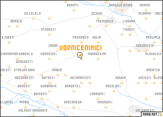 map of Vorniceni Mici