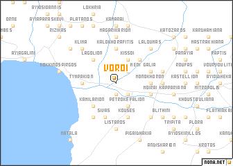 map of Vóroi