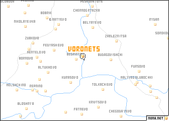 map of Voronëts