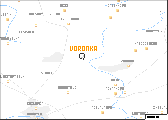 map of Voronka