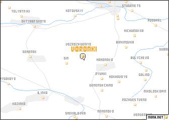 map of Voronki