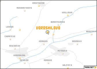 map of Voroshilovo