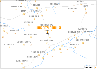 map of Vorotynovka