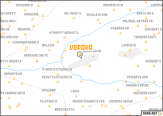 map of Vorovo