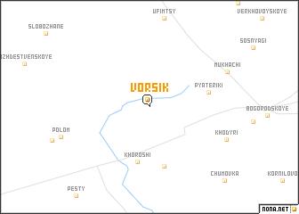 map of Vorsik