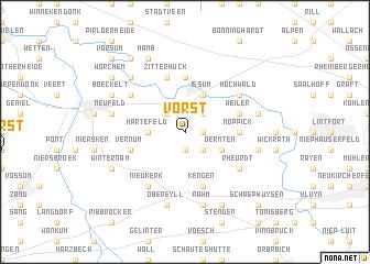 map of Vorst