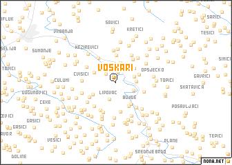 map of Voškari