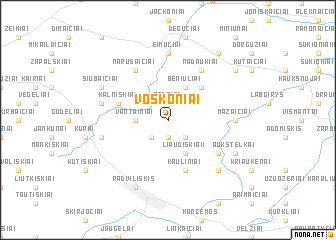 map of Voskoniai