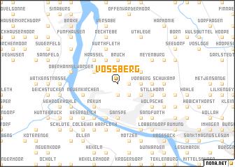 map of Voßberg