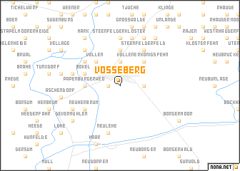 map of Vosseberg