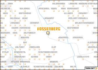 map of Vossenberg