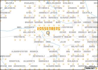 map of Vossenberg