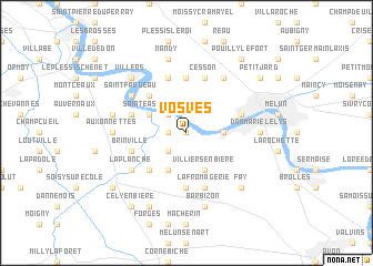 map of Vosves