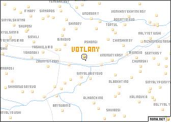 map of Votlany