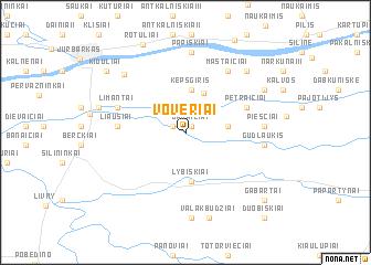 map of Voveriai