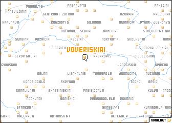 map of Voveriškiai