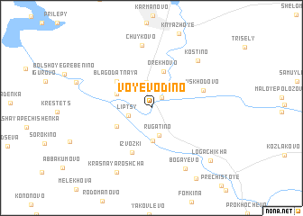 map of Voyevodino