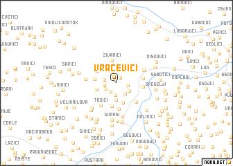 map of Vračevići