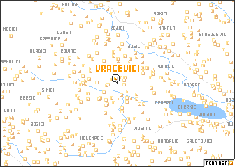map of Vračevići