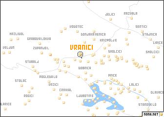 map of Vranići