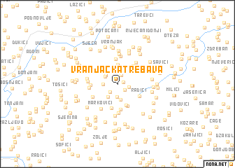 map of Vranjačka Trebava