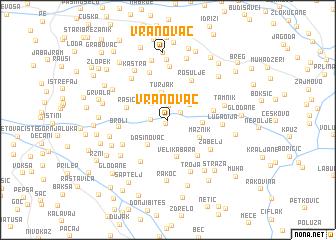 map of Vranovac