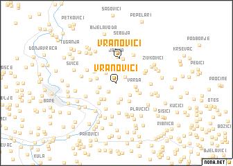 map of Vranovići