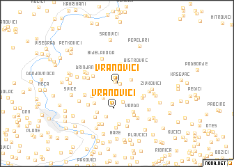 map of Vranovići