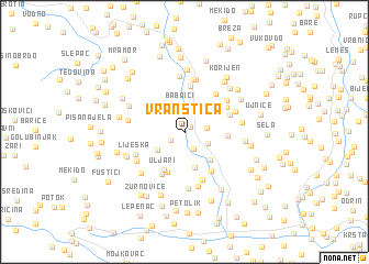 map of Vranštica