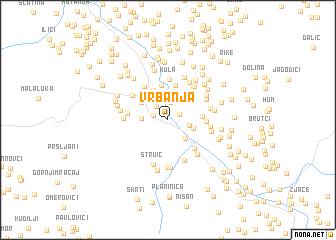 map of Vrbanja