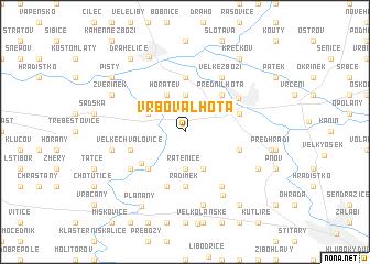 map of Vrbová Lhota