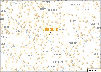 map of Vrbovik