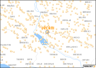 map of Vrcani