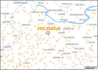 map of Vrela Donja