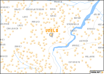 map of Vrela