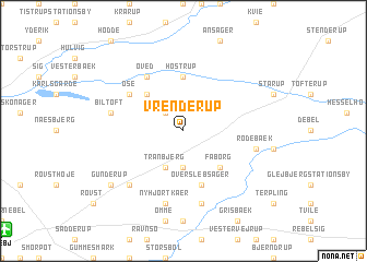 map of Vrenderup