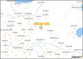 map of Vreshtas